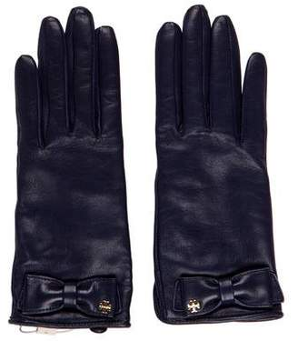 Tory Burch Leather Wool-Lined Gloves