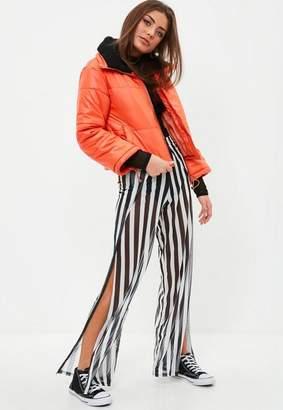 Missguided Petite Orange Cropped Padded Jacket