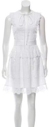Flavio Castellani Lace-Accented Sleeveless Dress