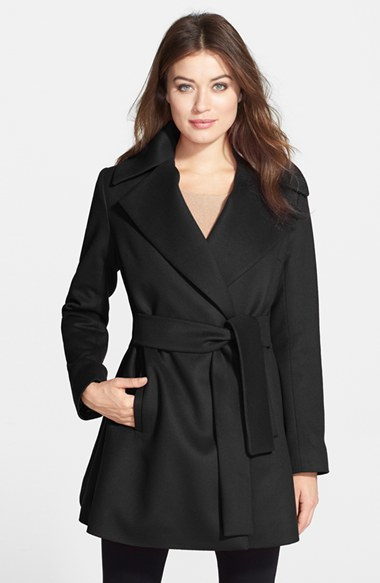 Trina Turk 'Beverly' Wool & Cashmere Wrap Coat (Regular & Petite)