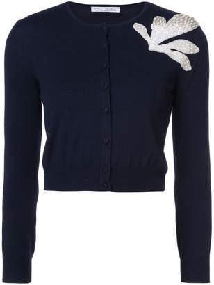 Oscar de la Renta embellished cropped cardigan