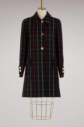 Miu Miu Wool check coat