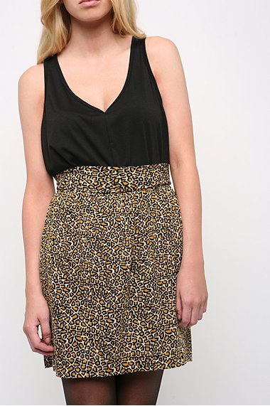 Mirror/Dash Leopard Print Skirt