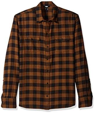 Paige Men's Everett Brushed Cotton Button Down Shirt
