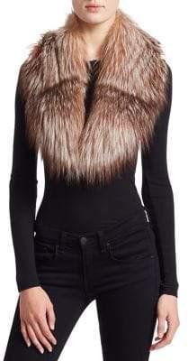 Julia & Stella Fox Fur Shawl Collar