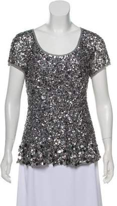 Calypso Short Sleeve Embellished Top