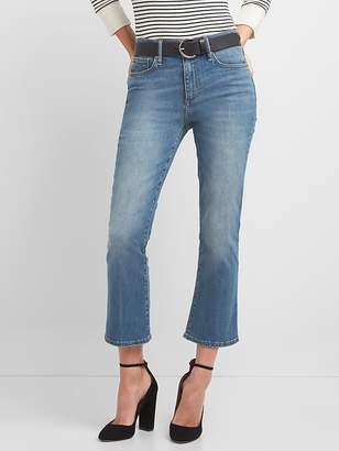 Gap Washwell High Rise Crop Kick Jeans