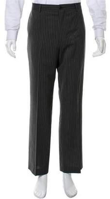 John Varvatos Pinstriped Flat-Front Pants