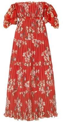 Johanna Ortiz Viajes Del Alma Off-the-shoulder Printed Plisse-georgette Maxi Dress