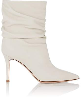 Gianvito Rossi Women's Cecile Leather Slouchy Ankle Boots