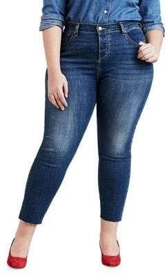 Levi's Plus Raw Edge Skinny Jeans