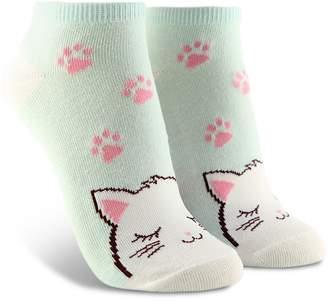 Forever 21 Cat Graphic Ankle Socks
