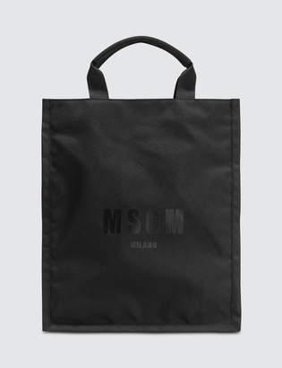 MSGM Box Logo Shopping Bag
