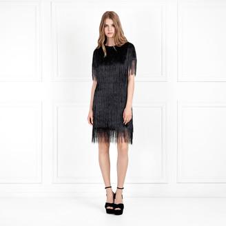 Rachel Zoe Eddy Metallic Fringe Mini Dress