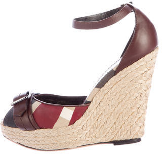 Burberry  Burberry Heritage Check Wedges