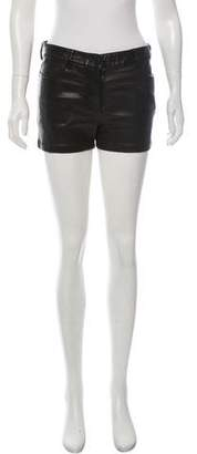 Alexander Wang Faux Leather Mini Shorts