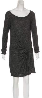 Thakoon Wool-Blend Long Sleeve Knee-Length Dress