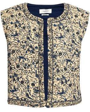 Etoile Isabel Marant Embroidered Quilted Cotton And Linen-Blend Vest