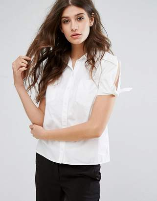 Oasis Tie Sleeve Shirt $48 thestylecure.com