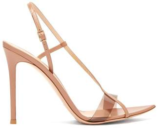 Gianvito Rossi Plexi Slingback Leather Heels - Womens - Nude