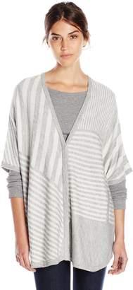 Splendid Women's Op-Art Stripe Cashmere Blend Sweater Poncho