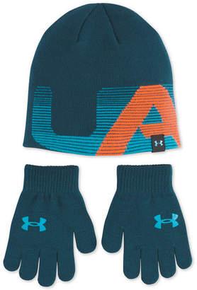 Under Armour Big Boys 2-Pc. Beanie Hat & Gloves Set