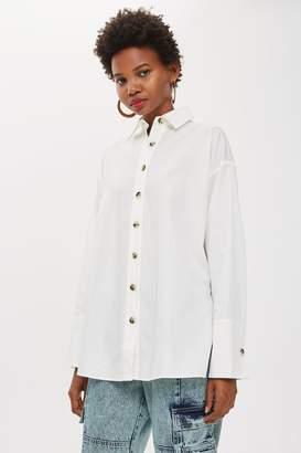 Topshop Oversized Side Split Shirt