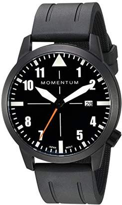 Momentum Men's Sports Watch | Fieldwalker Automatic Leather Adventure Watch by | IP Black Stainless Steel Watches for Men | Analog Watch with Automatic Japanese Movement | Water Resistant (200M/660FT) Classic Watch - Black / 1M-SN94BS1B
