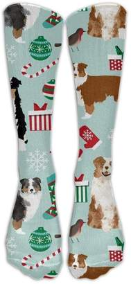 Aussie Dogs Rubber doormat Australian Shepherd Christmas Cute Unisex Compression Socks For Running, Nurses, Shin Splints, Travel, Flight, Pregnancy & Maternity.