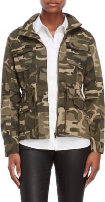 Shinestar Camo Hooded Utility Jacket