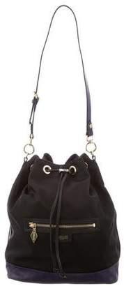 MZ Wallace Leather Trim Shoulder Bag