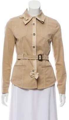 Prada Military Belted Blazer