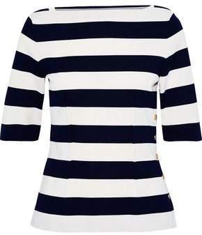 Derek Lam Snap-detailed Striped Cotton Top
