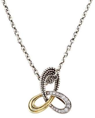 Lagos Diamond Pirouette Triple-Knot Pendant Necklace