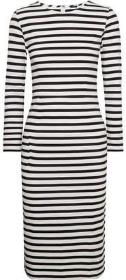 J.Crew Chloe Striped Cotton-jersey Dress - Black