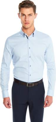 yd. SKY BLUE ALVARO SLIM FIT DRESS SHIRT