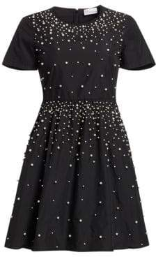 RED Valentino Imitation Pearl A-line Dress