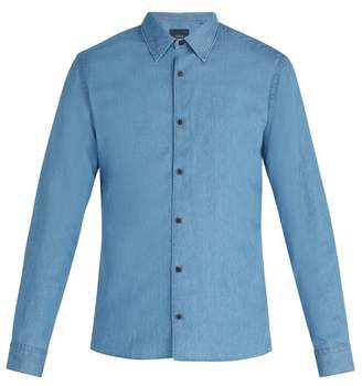 Altea Bond Cotton Shirt - Mens - Denim
