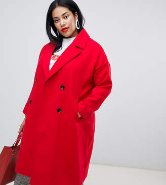 Vero Moda Curve Double Breasted Overcoat