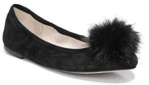 Sam Edelman Farina Faux Fur Pom-Accented Flats