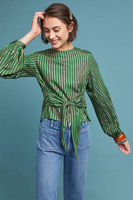 Miranda Dunn Metallic Striped Blouse