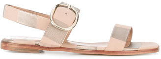 Paul Smith metallic flat sandals $495 thestylecure.com
