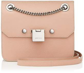 Jimmy Choo REBEL/XB Ballet Pink Soft Grained Goat Leather Cross Body Bag