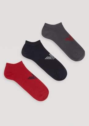 Emporio Armani Three-Pair Set Of Socks With Central Logo Detail
