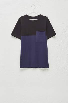 French Connenction Half Stripe Crew Neck T-Shirt