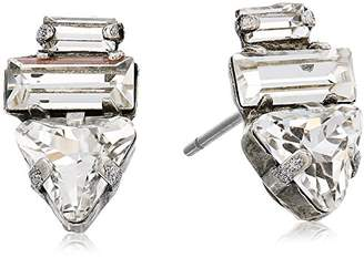 Sorrelli Lisa Oswald Collection Geometric Crystal Stud Earrings