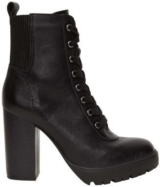 Steve Madden Latch Black Leather Boot