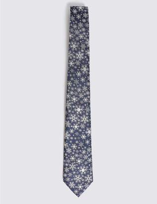 Marks and Spencer Snowflake Sparkle Christmas Tie