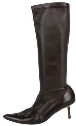 Lambertson Truex Leather Pointed-Toe Boots