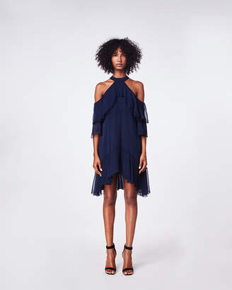 Nicole Miller Silk Ruffle Dress